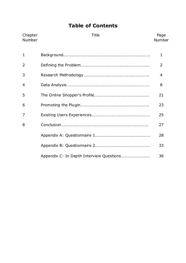 Dissertation methodology content