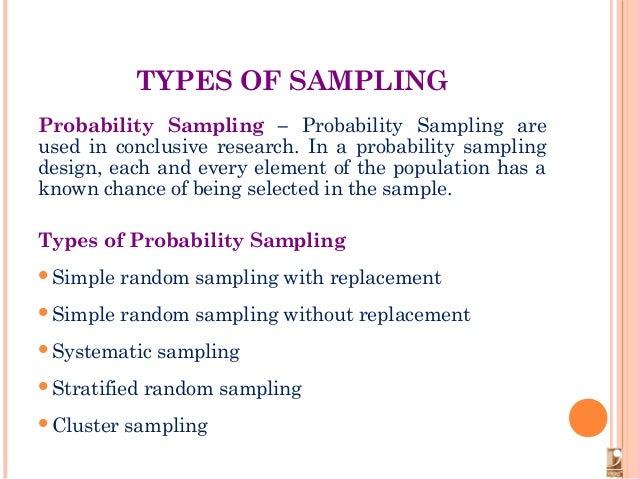 types of sampling techniques in research Start studying sampling methods learn vocabulary, terms, and more with flashcards, games, and other study tools.