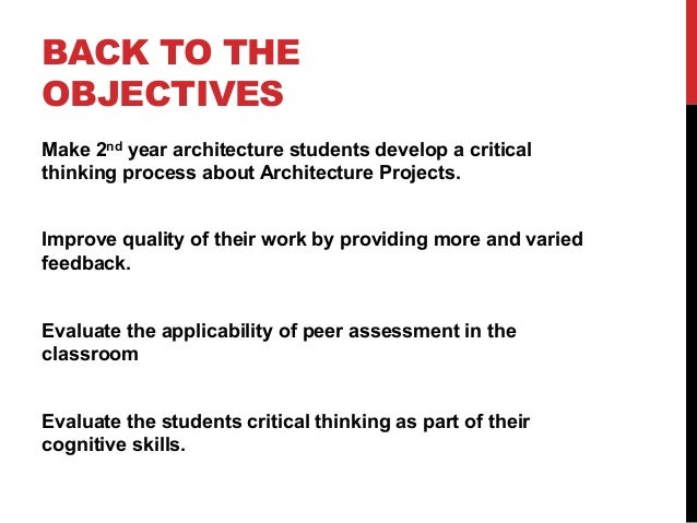 Peer Assessment in Architecture Education - Brno - ICTPI'14