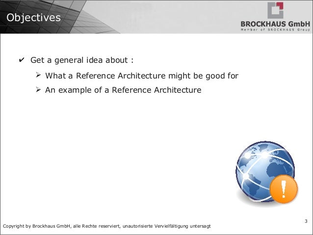 BRO 110: Reference Architecture Slide 3
