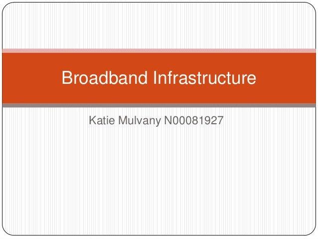 Broadband Infrastructure   Katie Mulvany N00081927