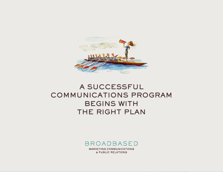 MARKETING PLANS               A SUCCESSFUL       COMMUNICATIONS PROGRAM            BEGINS WITH           THE RIGHT PLAN