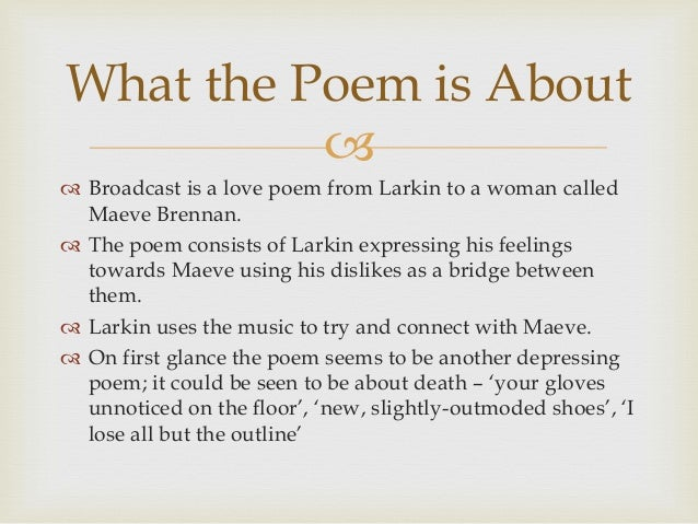 Find Another Essay On Philip Larkin's The Whitsun Weddings