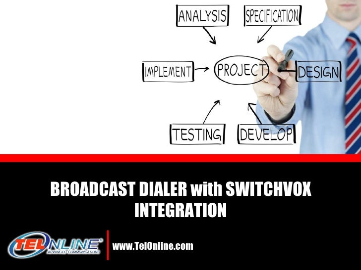 www.TelOnline.com BROADCAST DIALER with SWITCHVOX INTEGRATION