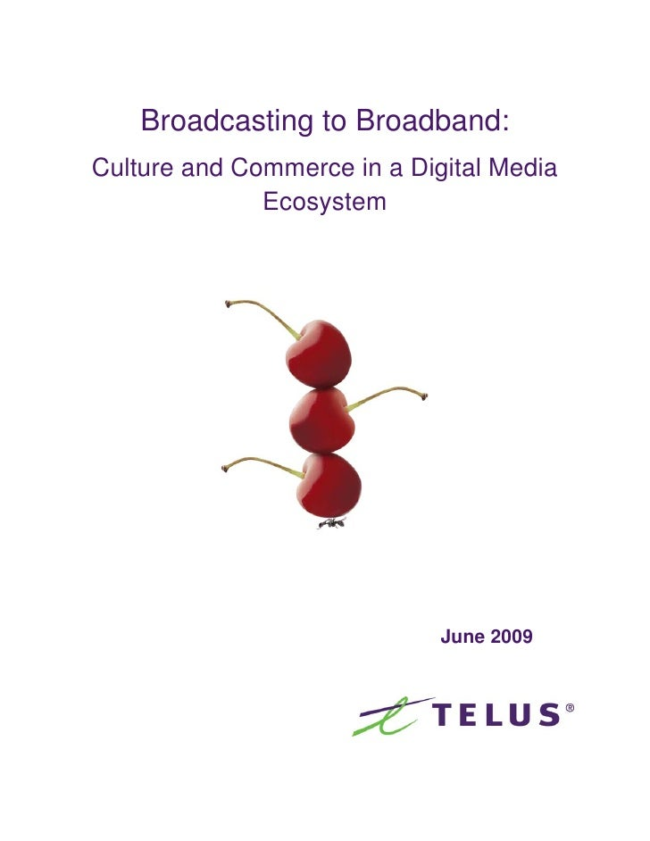 Broadcasting to Broadband: Culture and Commerce in a Digital Media               Ecosystem                                ...
