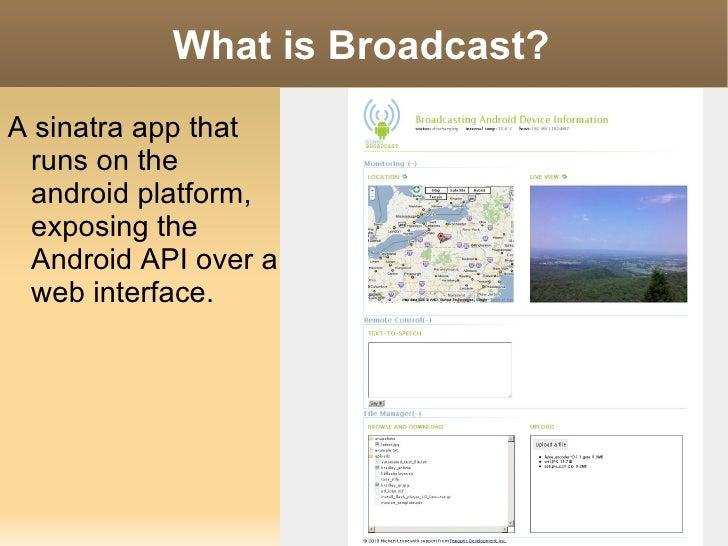 Broadcast presentation Slide 3