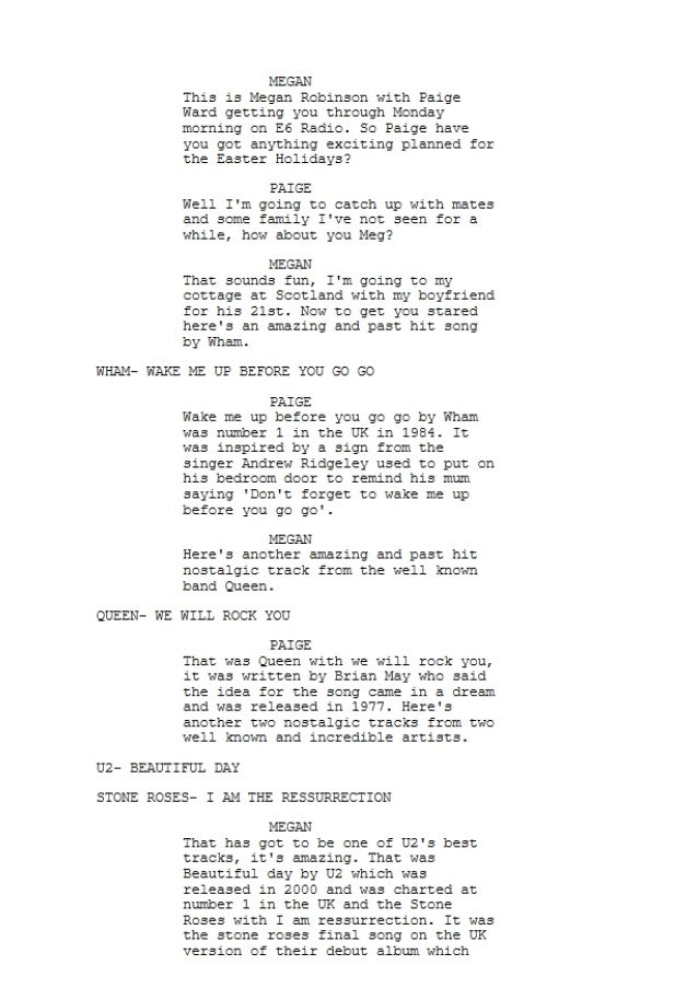 How to Write Broadcast Scripts