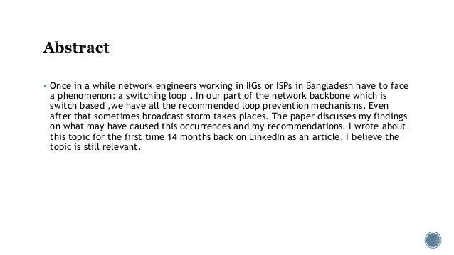 Broadcast storms in service provider network, Nafeez Islam Slide 2