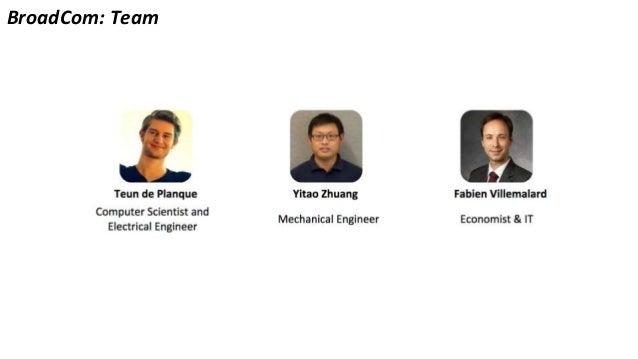 BroadCom: Team Fabien Villemalard Economist & IT Teun de Planque Computer Scientist and Electrical Engineer Mechanical Eng...