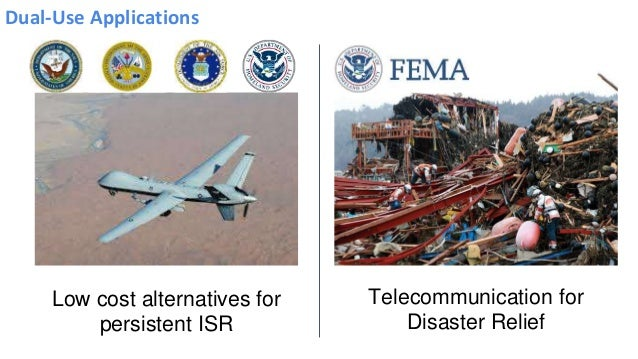 Dual-Use Applications Telecommunication for Disaster Relief Low cost alternatives for persistent ISR