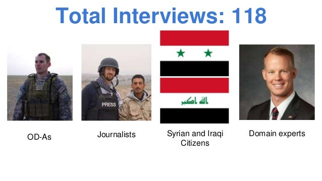 Total Interviews: 118 OD-As Journalists Syrian and Iraqi Citizens Domain experts