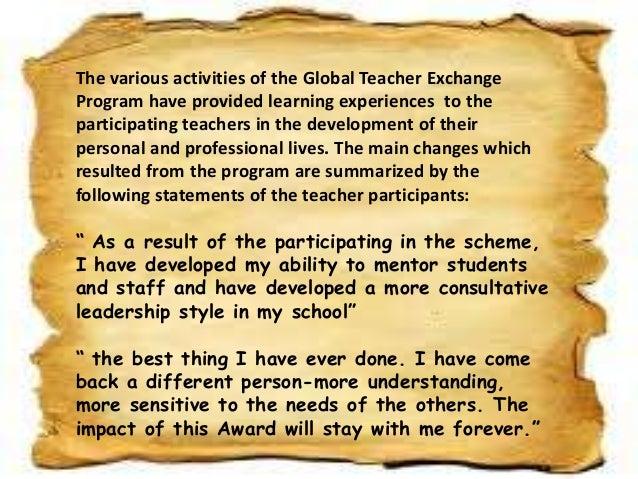 Broadening teaching perspective