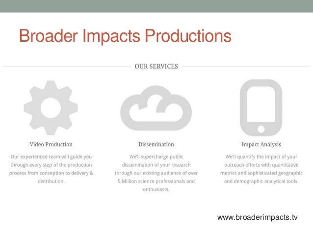 Broader impacts and online video Slide 2