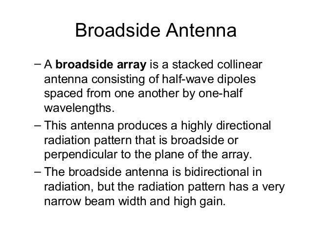 Broadside array vs end fire array