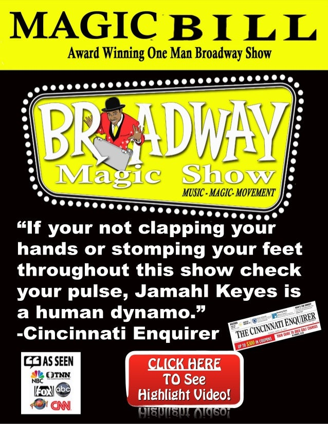 """If your not clapping your hands or stomping your feet throughout this show check your pulse, Jamahl Keyes is a human dyna..."
