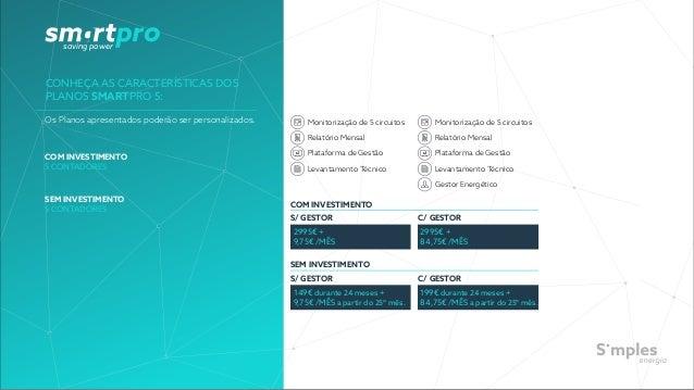 saving power CONHEÇA AS CARACTERÍSTICAS DOS PLANOS SMARTPRO 5: COM INVESTIMENTO 5 CONTADORES SEM INVESTIMENTO 5 CONTADORES...