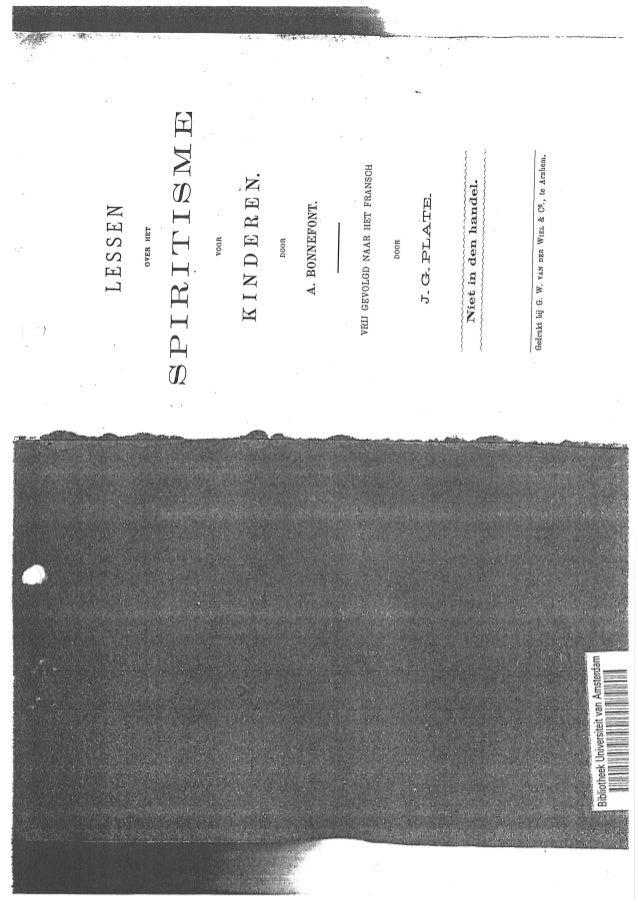 Brochura lessen over spiritisme   jg plate