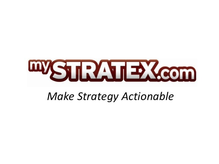 Make Strategy Actionable
