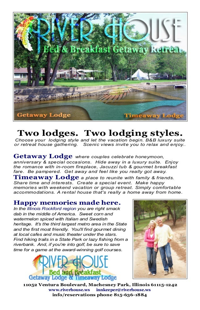 Two lodges. Two lodging styles. Choose your lodging style and let the vacation begin. B&B luxury suite or retreat house ga...