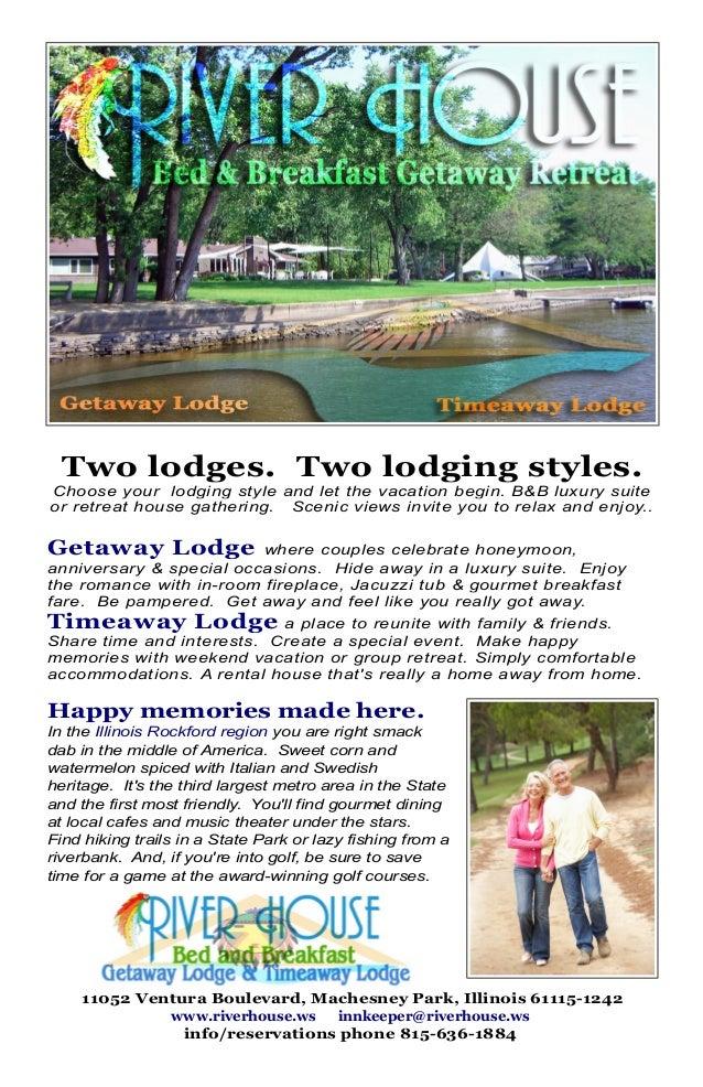 Brochure For River House Bb Getaway Retreat Rockford Il
