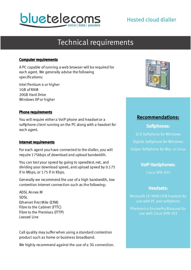 Predictive Dialler Brochure