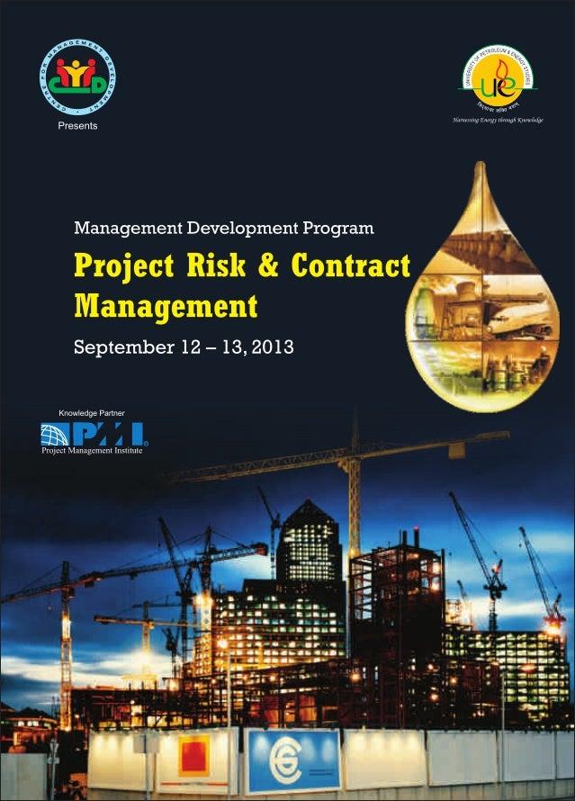 """MANAGEMENT DEVELOPMENT PROGRAM """"Project Risk & Contract Management"""""""