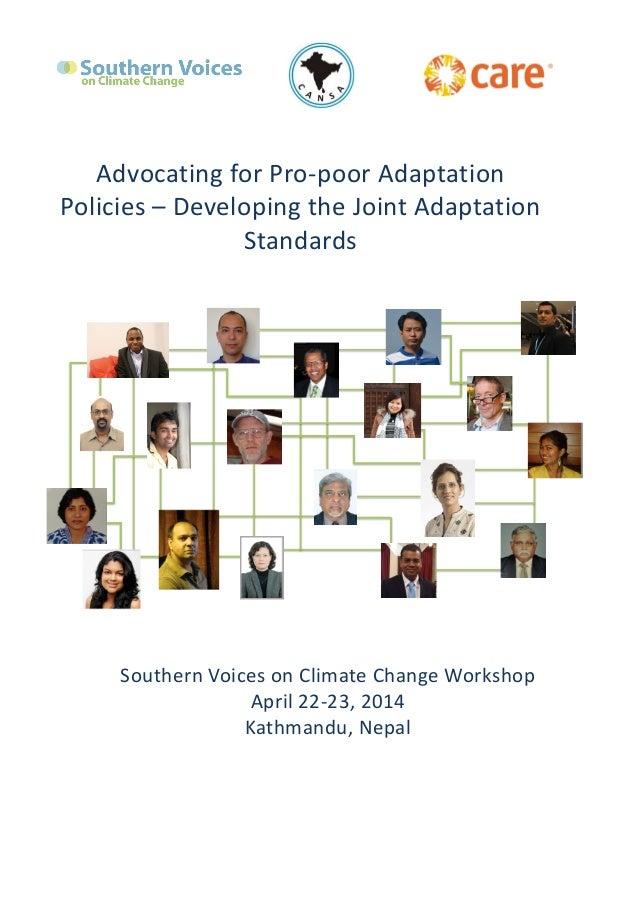 Southern  Voices  on  Climate  Change  Workshop     April  22-‐23,  2014   Kathmandu,  ...