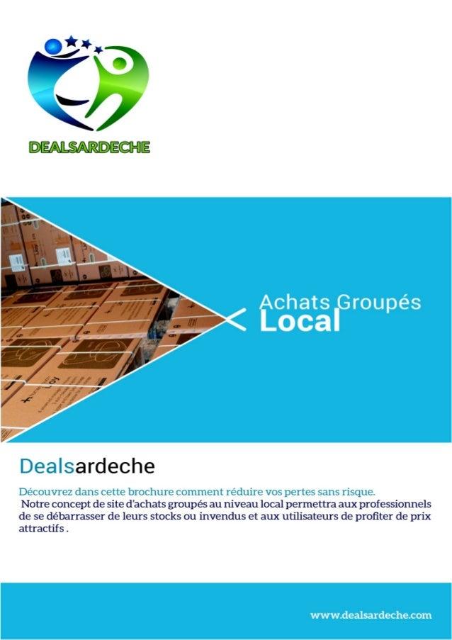 Brochure partenaires dealsardeche le site d'achats groupés local