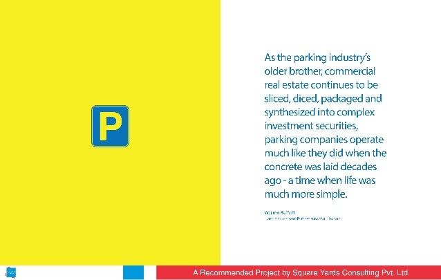 As the parking industry's older brother,  commercial real estate continues to be sliced,  diced,  packaged and synthesized...