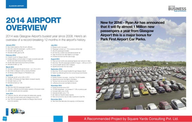 I  GLASGOW AIRPORT     2014 AIRPORT  OVERVIEW  2014 was Glasgow Airport's busiest year since 2008. Heres an overview of a ...