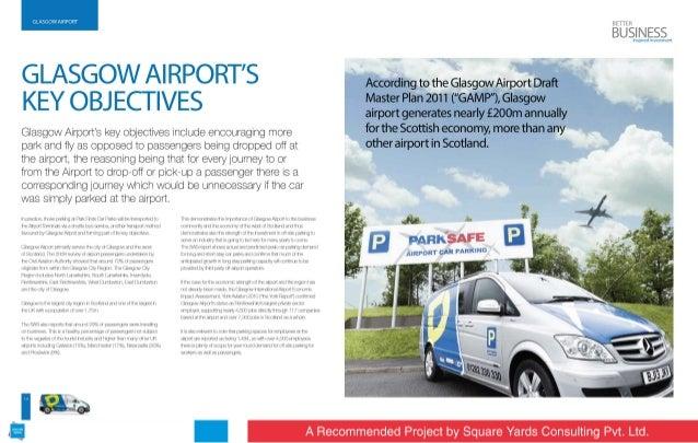 :iv; mu'mIl: iuu:4i     GLASGOW AI RPORT'S KEY OBJECTIVES  Glasgow Airport's key objectives include encouraging more park ...