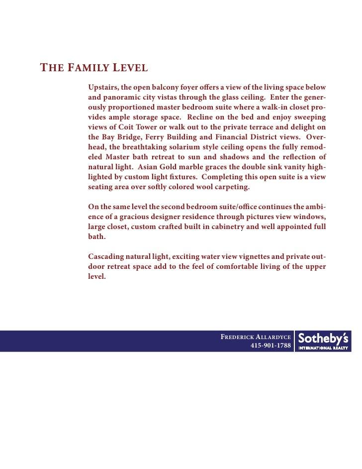 THE LIVING LEVEL                   FREDERICK ALLARDYCE                       415-901-1788