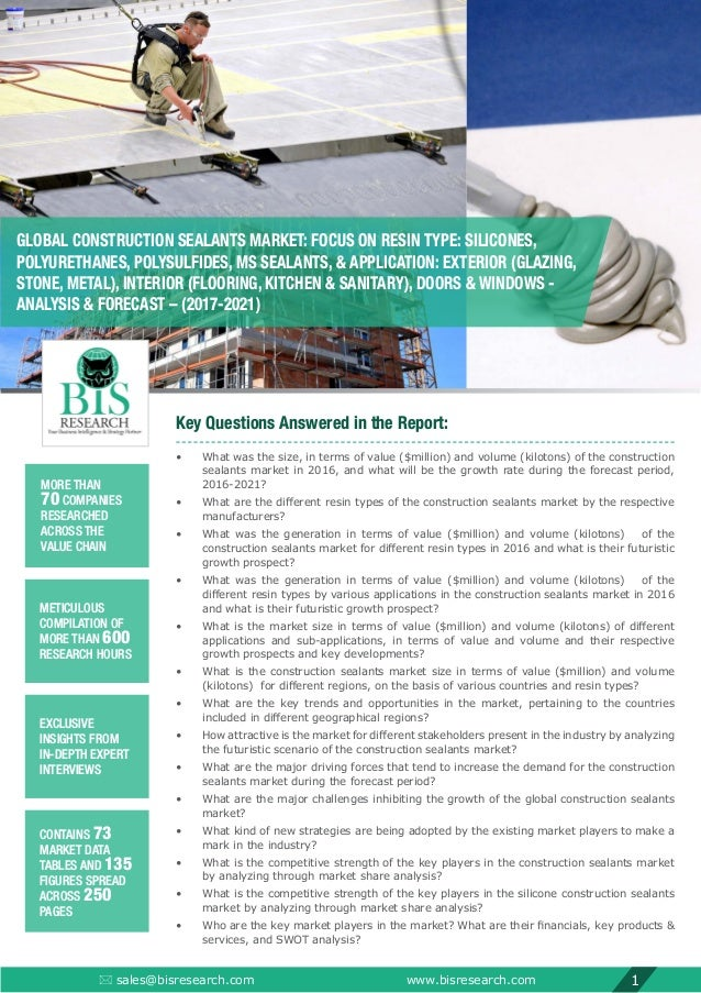 Construction Sealants Market Research Report (2017-2021)