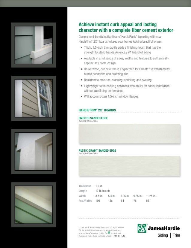 James Hardie Siding Brochure 2xtrim