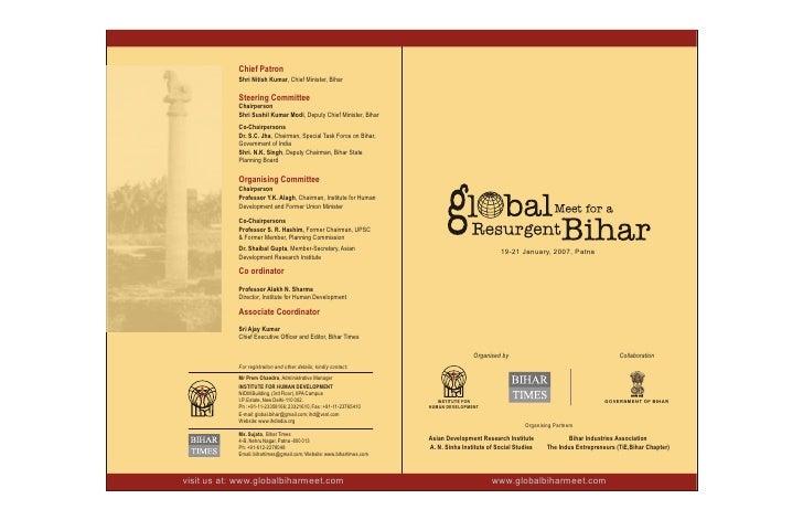Chief Patron             Shri Nitish Kumar, Chief Minister, Bihar              Steering Committee             Chairperson ...
