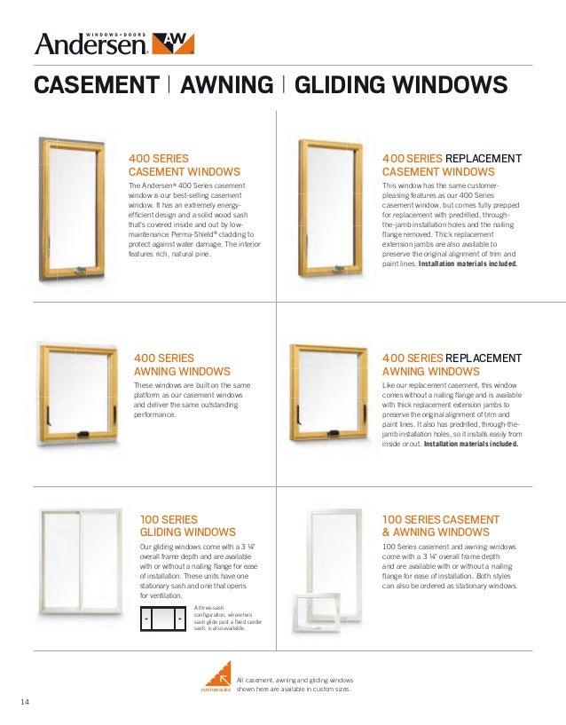 Andersen Brochure 400 200 100 Series Window Door