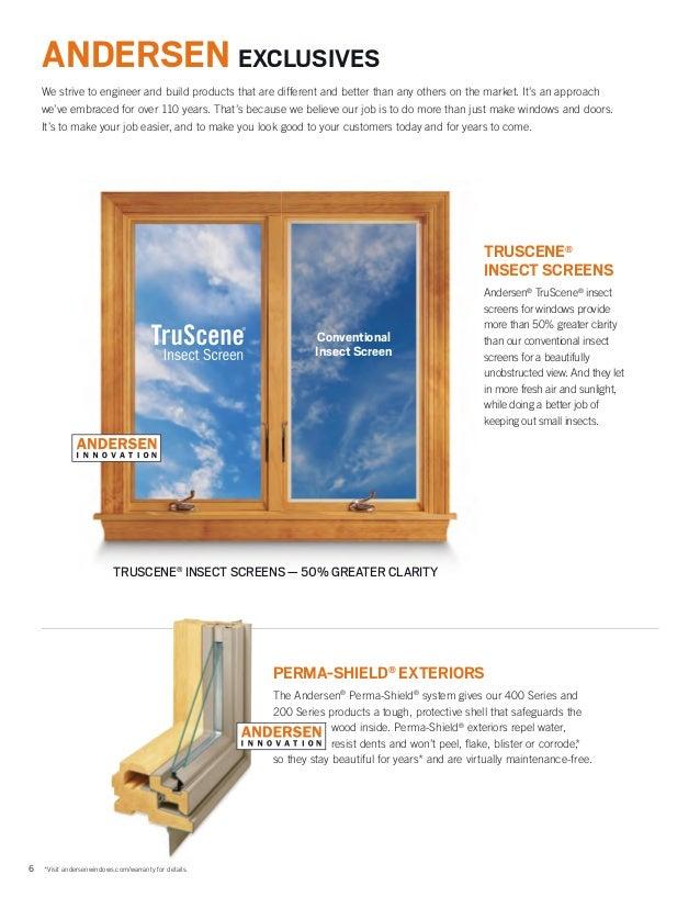 andersen brochure 400 200 100 series window door replacement 9046527