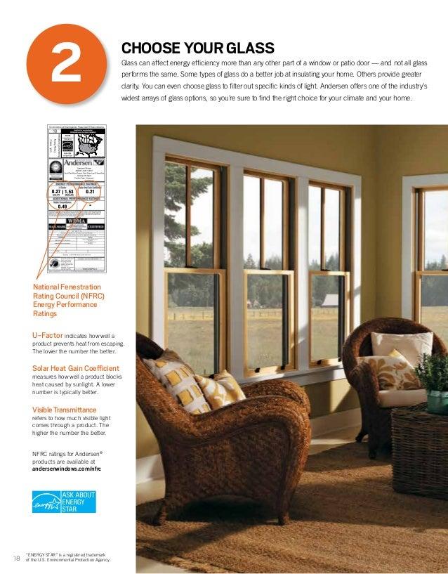 Andersen brochure 400 200 architectural series window door for Andersen windows u factor