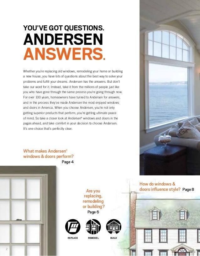 Andersen Brochure 400 200 Architectural Series Window Door