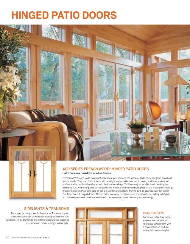 Andersen brochure 400 200 architectural series window door 9040569 40 40 hinged patio doors 400 series frenchwood planetlyrics Image collections