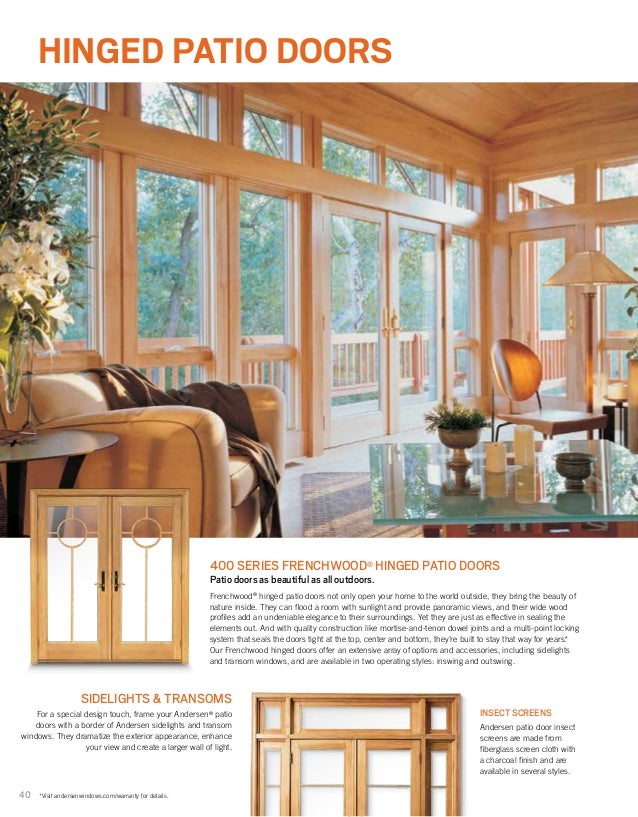 40 40 hinged patio doors
