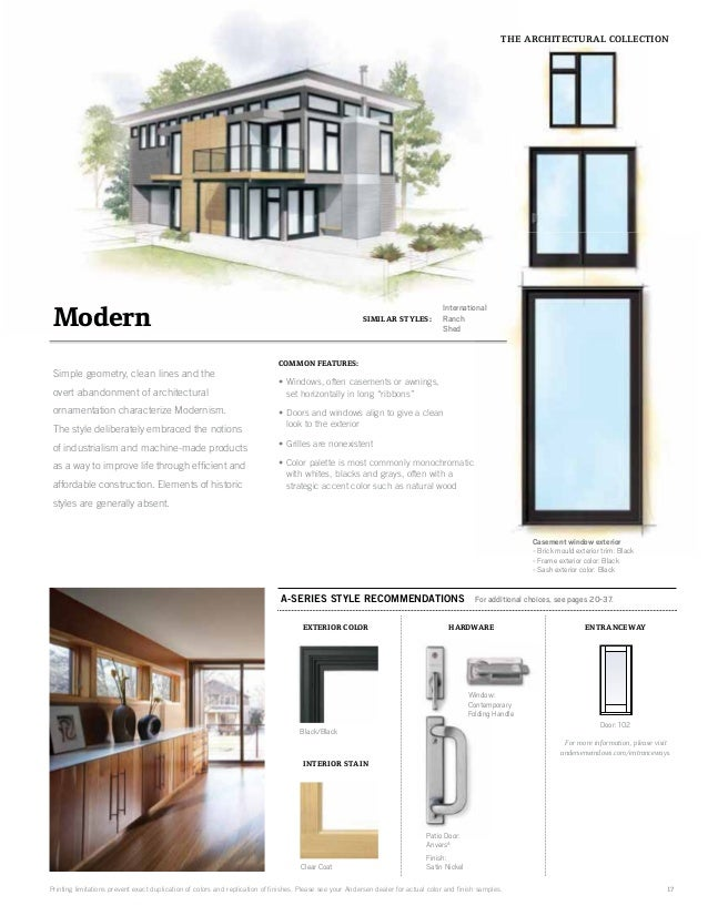 Brochure Architectural Collection A Series Window Door 9066670
