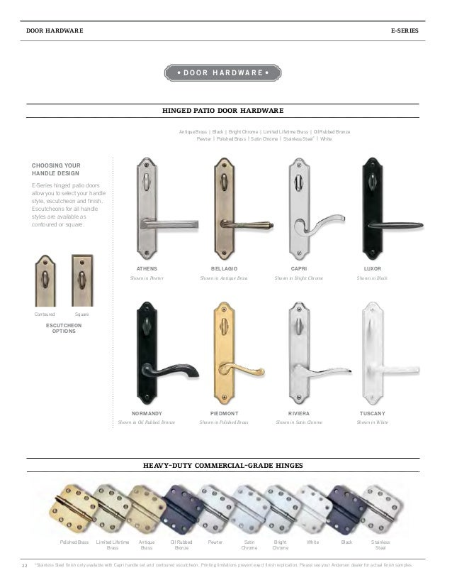 Brochure Architectural Collection E Series Window Door 9066674