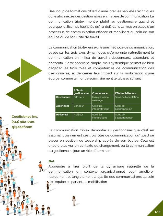 Beaucoup de formations offrent d'améliorer les habiletés techniques ou relationnelles des gestionnaires en matière de commu...