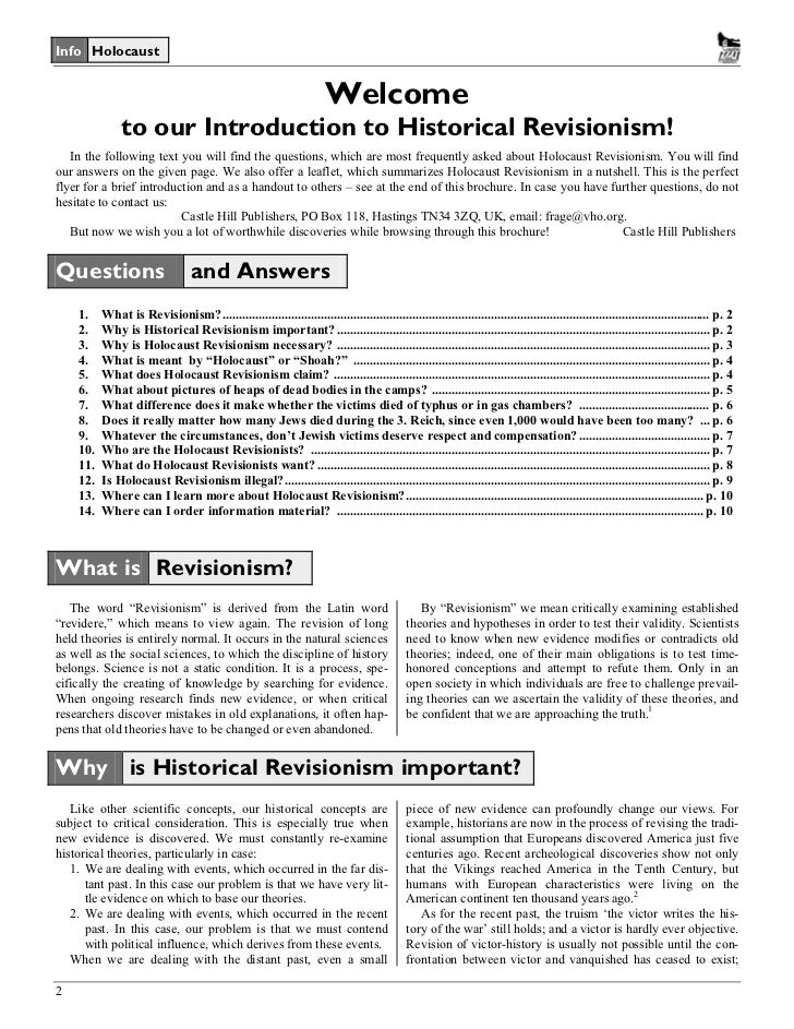 Castle Hill Publishers 2 Info Holocaust