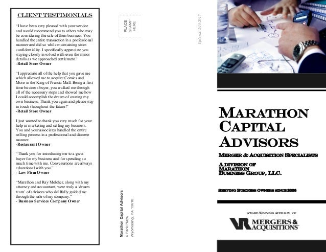 Marathon Capital Advisors brochure