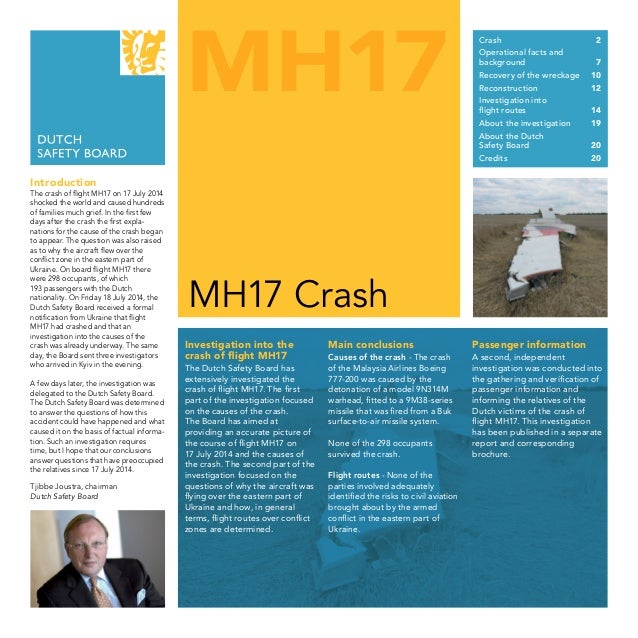 MH17 MH17 Crash Introduction The crash of flight MH17 on 17 July 2014 shocked the world and caused hundreds of families mu...