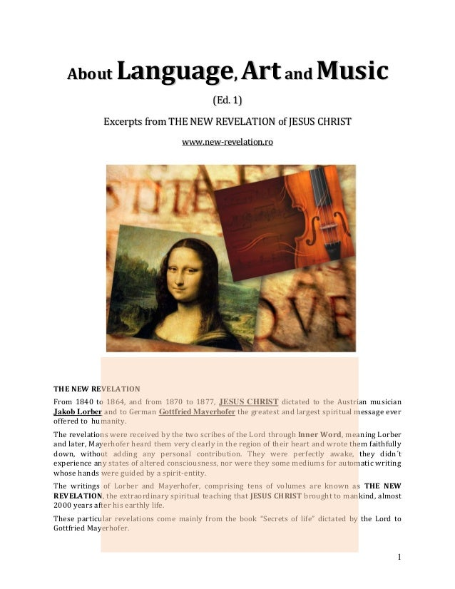 About         Language, Art and Music                                             (Ed. 1)              Excerpts from THE N...
