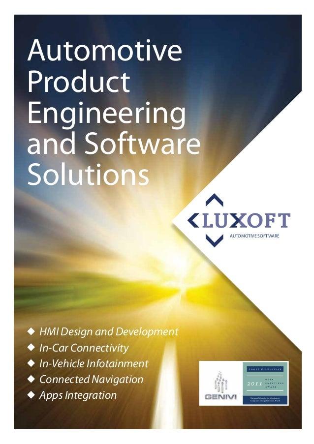 AutomotiveProductEngineeringand SoftwareSolutions                             AUTOMOTIVE SOFTWAREHMI Design and Developmen...