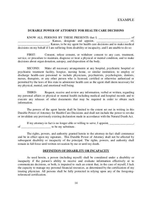 Brochure Powers Of Attorney Generally